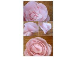 Фото цветов из ткани