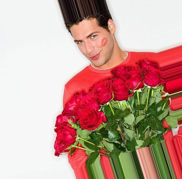 Смешные, открытки парень дарит цветы