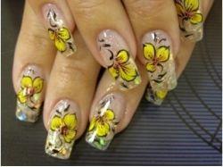 Ногти с цветами фото
