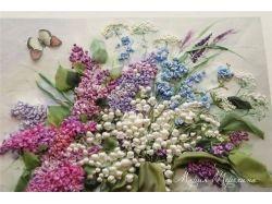 Вышивка лентами цветы картинки