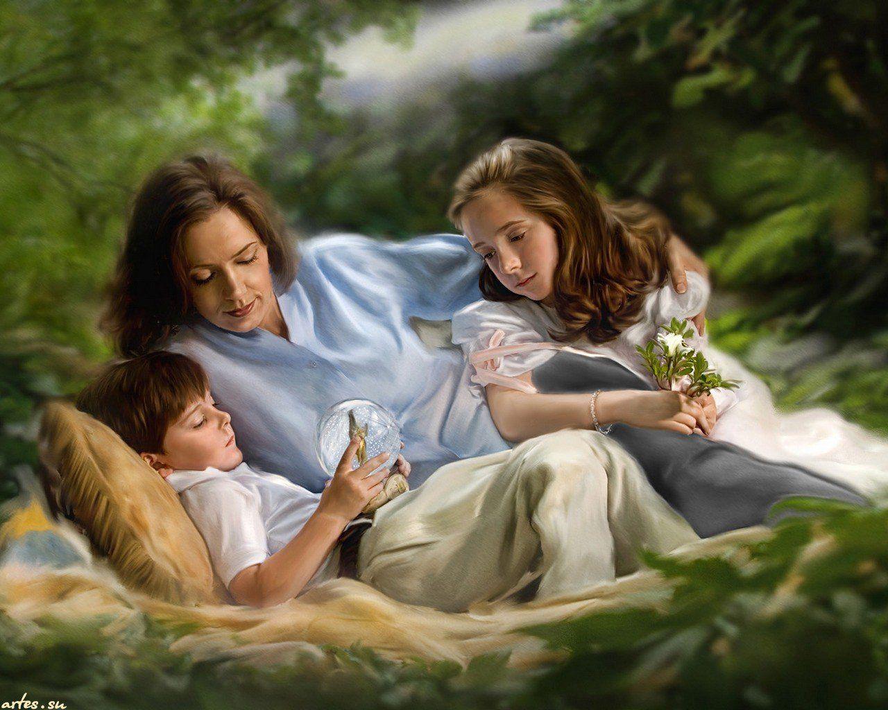 Открытку, картинки для детей о маме