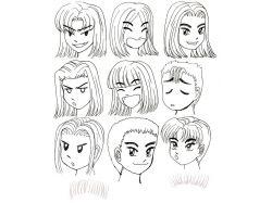 Аниме рисунки для начинающих карандашом