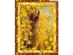 Картинки девушка и осень