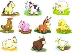 Картинки животных для малышей