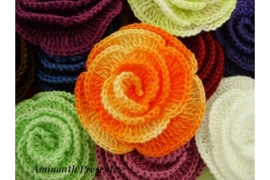 Вязание крючком цветов схемы фото