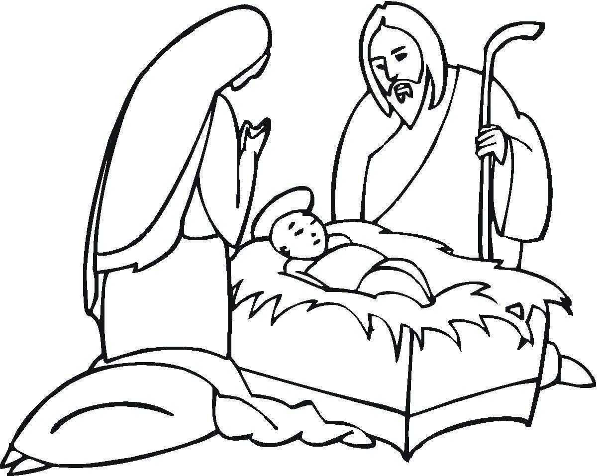 Раскраски рождество христово » Скачать лучшие картинки ...