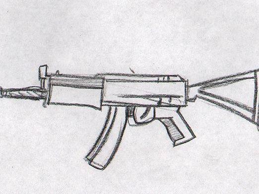 Картинки для срисовки легкие оружие