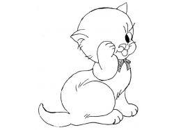 Рисунки карандашом кошек