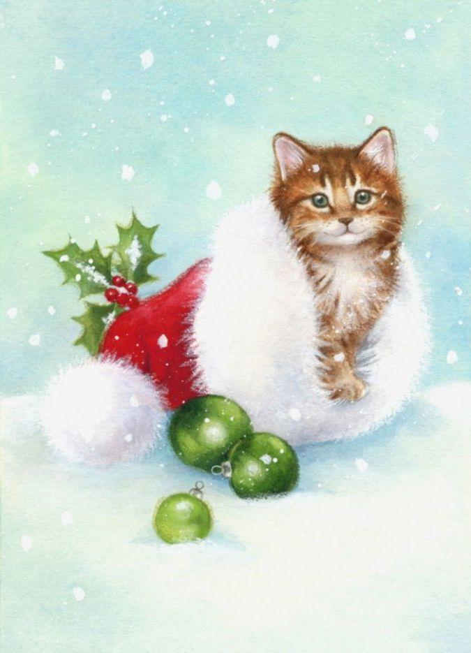 самых поздравление на новый год рисунок карандашом котики это