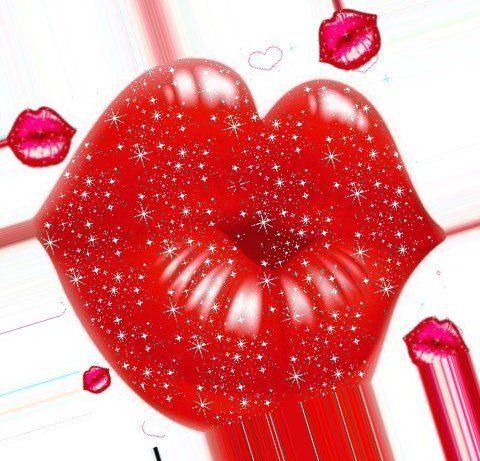 Бумаги цветком, мерцающие открытки с поцелуем