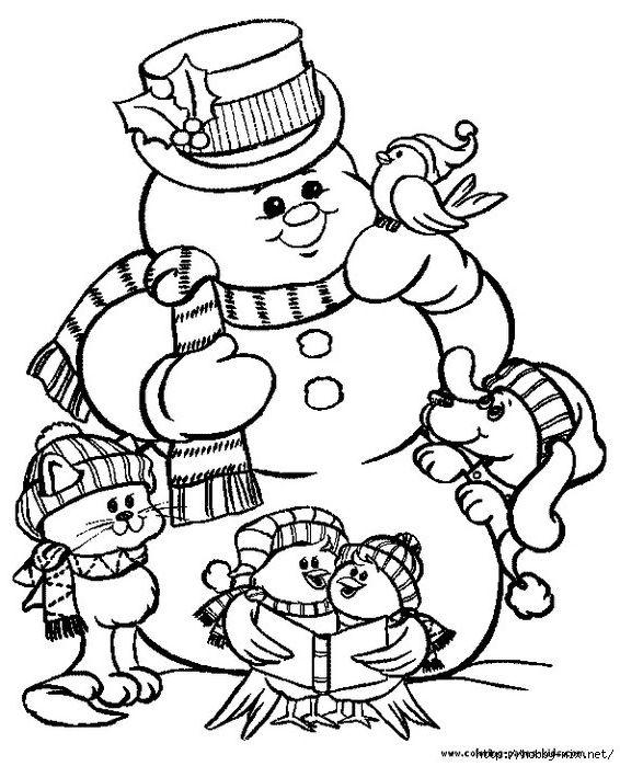 Рождественские картинки раскраски » Скачать лучшие ...