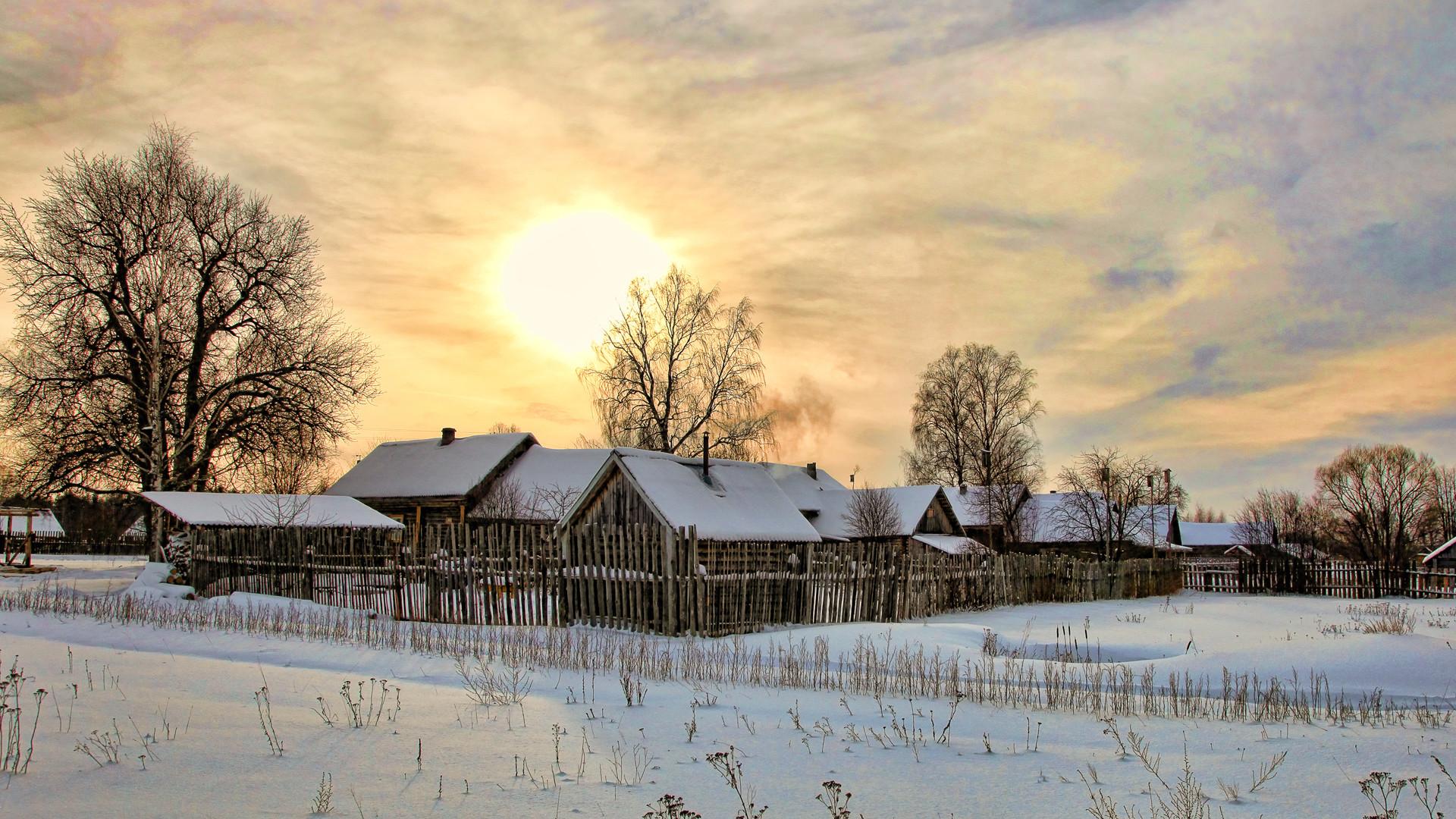 картинки для рабочего стола зима в деревне пластичности нейронов