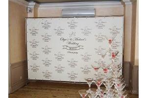 Пресс волл на свадьбу фото