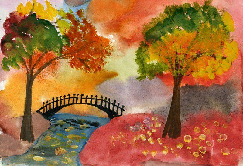 Рисунки на тему осень золотая » Скачать лучшие картинки ...