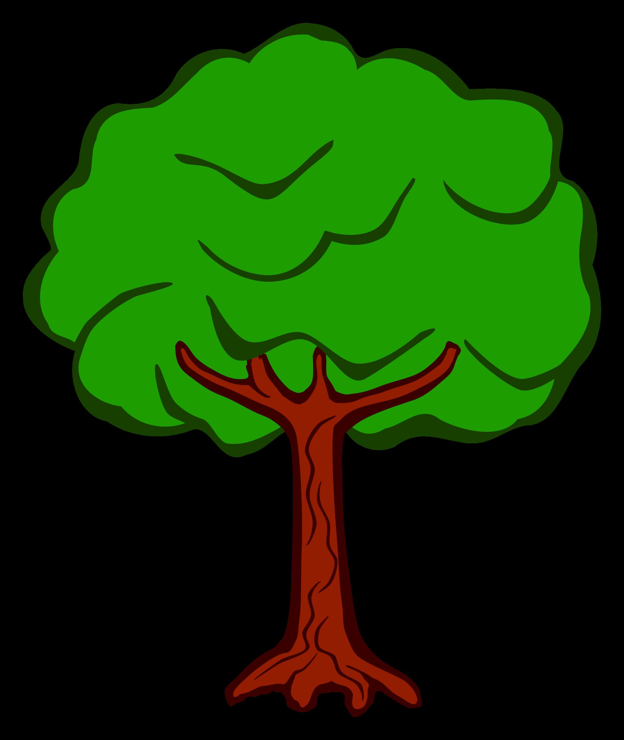 Дерево рисунок шаблон распечатать цветное