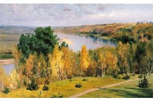 Фото картины левитана золотая осень