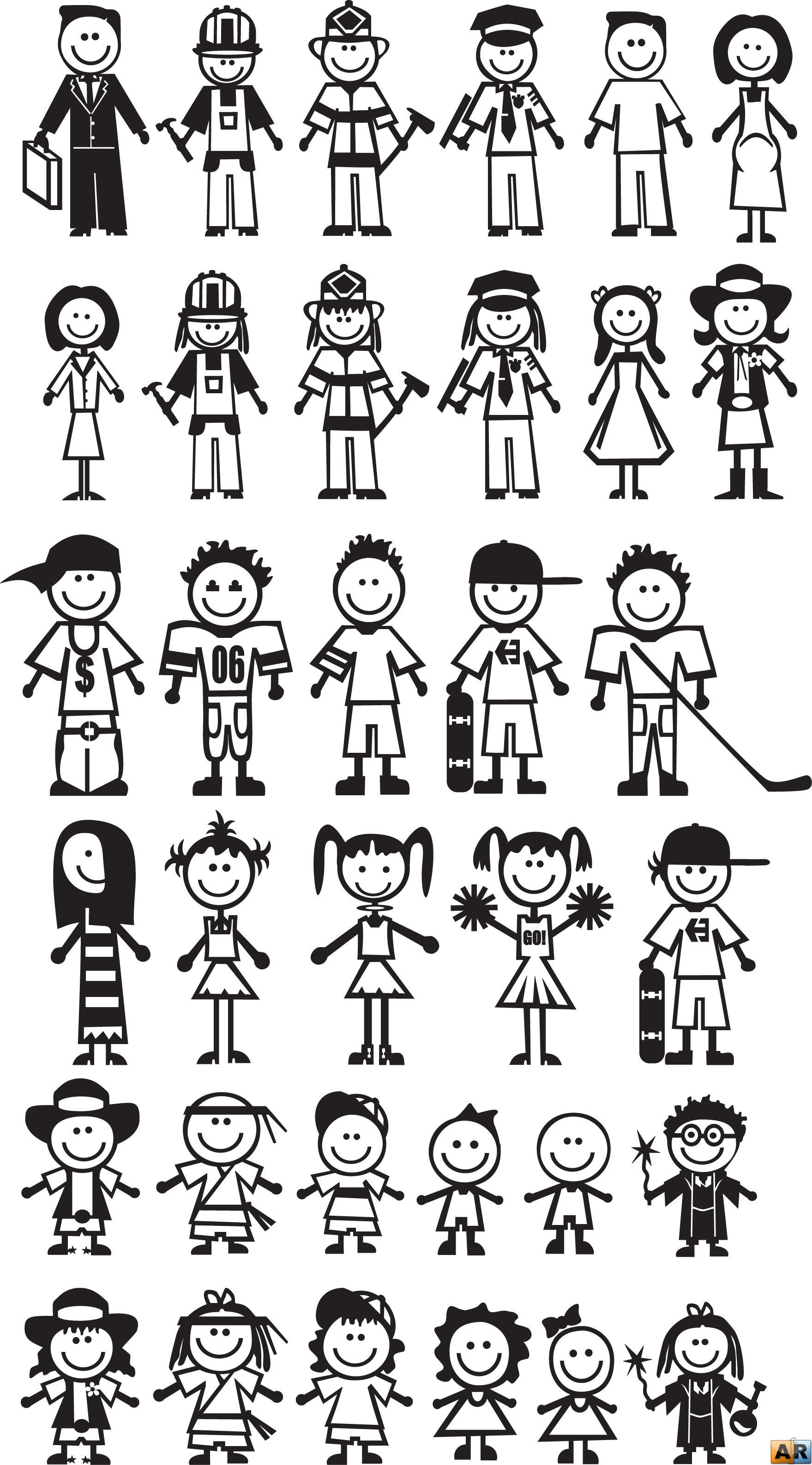 Смешные рисунки с белыми человечками