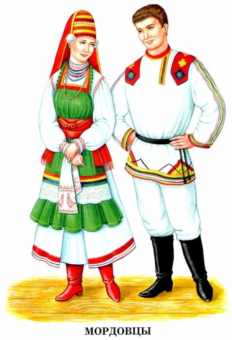 Украинские национальные костюмы в картинках для 6