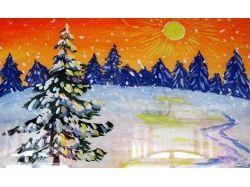 Зима рисунки