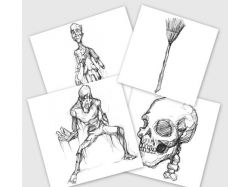 Рисунки на хэллоуин карандашом
