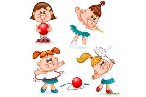 Картинка дети занимаются спортом