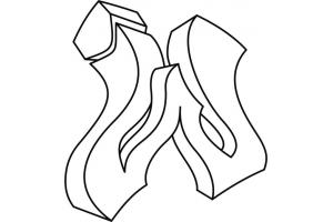 Граффити на бумаге карандашом для начинающих