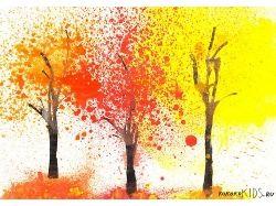 Осенние рисунки детей