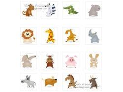 Картинки животных нарисованные