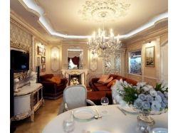 Интерьер фото гостиной в классическом стиле 3