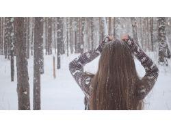 Зима фото девушка 1