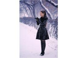 Зима фото девушка 5