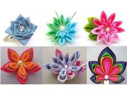 Канзаши фото цветы 1