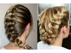 Плетение кос на средние волосы фото 4