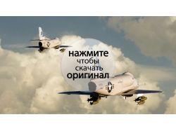 Фото самолета в небе 6