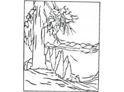 Раскраска пейзаж природа 5