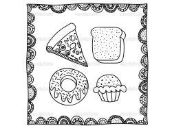 Рисунки еды 5