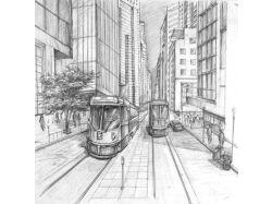 Рисунок карандашом город 2