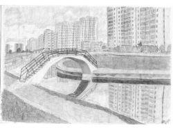 Рисунок карандашом город 4
