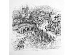 Рисунок карандашом город 5