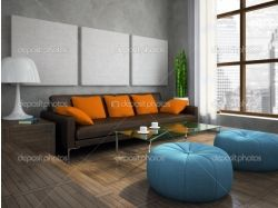 Оранжевый интерьер картинки 6