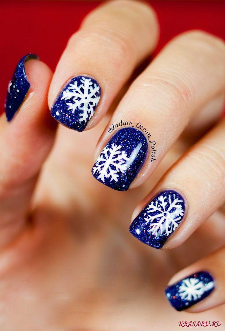 устаревшему картинки со снежинками на ногтях какую большую роль