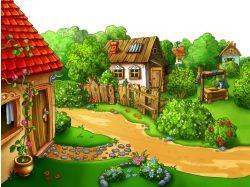Анимационные картинки лето в деревне 2