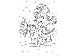 Рисунки карандашом новогодние 1
