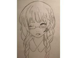 Аниме нарисованные карандашом 3