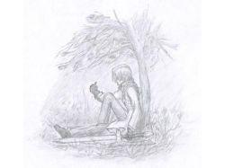 Аниме нарисованные карандашом 4
