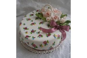 Торт из мастики на годовщину свадьбы фото