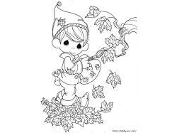 Раскраска осень картинки 4