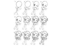 Как рисовать картинки аниме 5