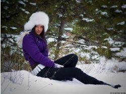 Фото зима девушка 5