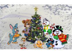 Скачать детские картинки зима